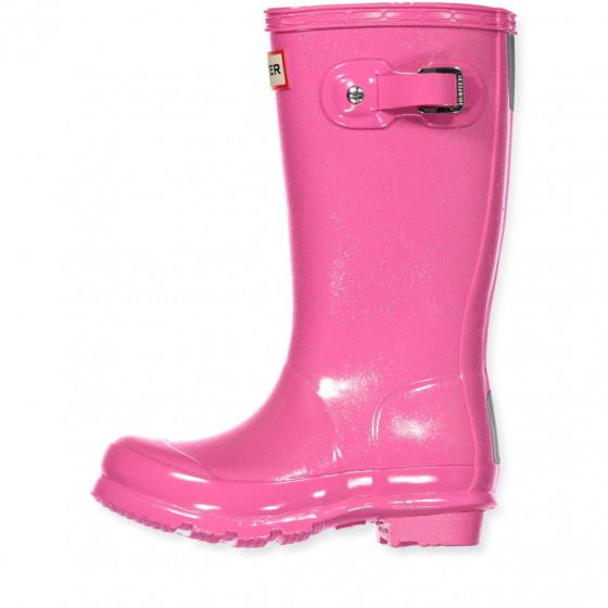 STIEFEL GUMMISTIEFEL SCHWARZ Pink 100 % Gummi