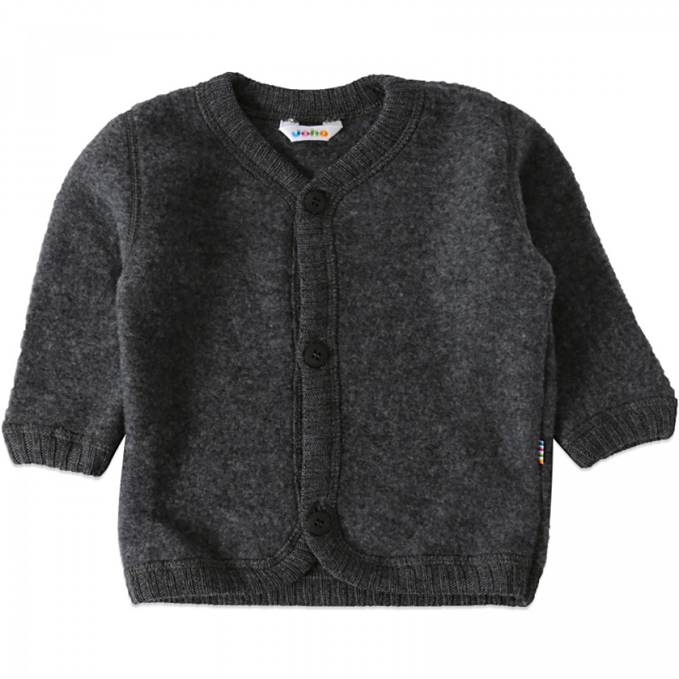 Graue Fleece-Cardigan aus Wolle