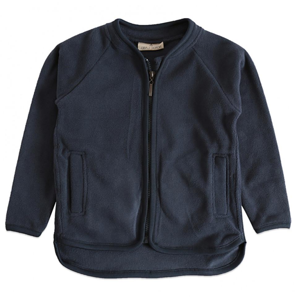 Navy Fleece-Jacke
