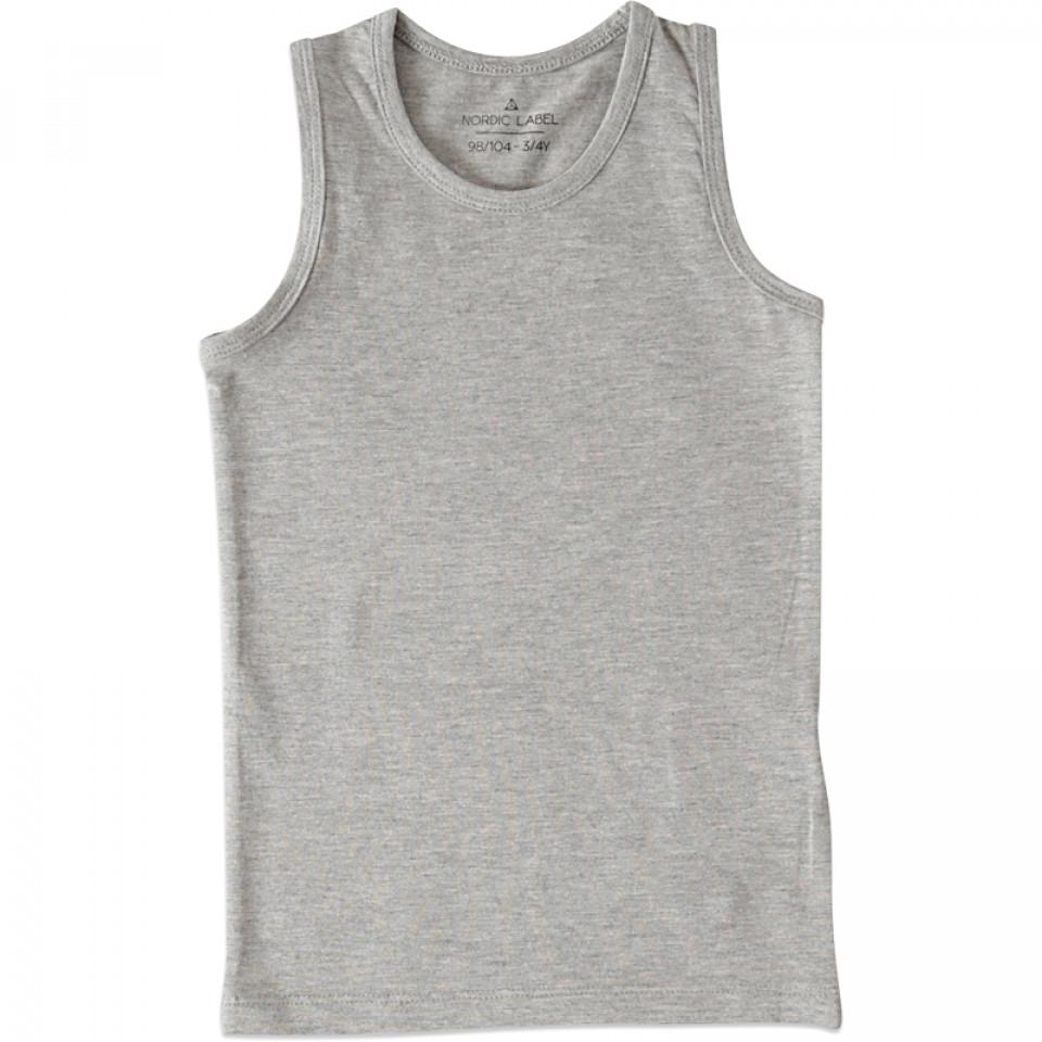 Graumeliertes Unterhemd - Junge