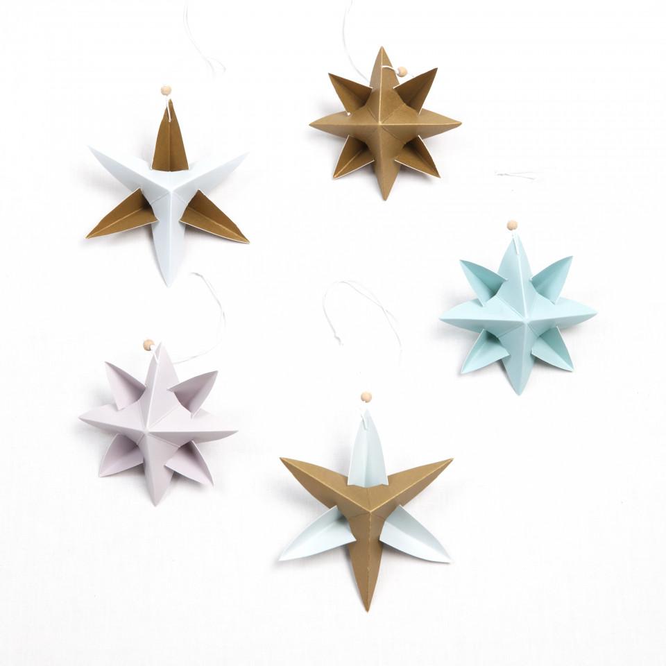 Paper Star Ornament DIY