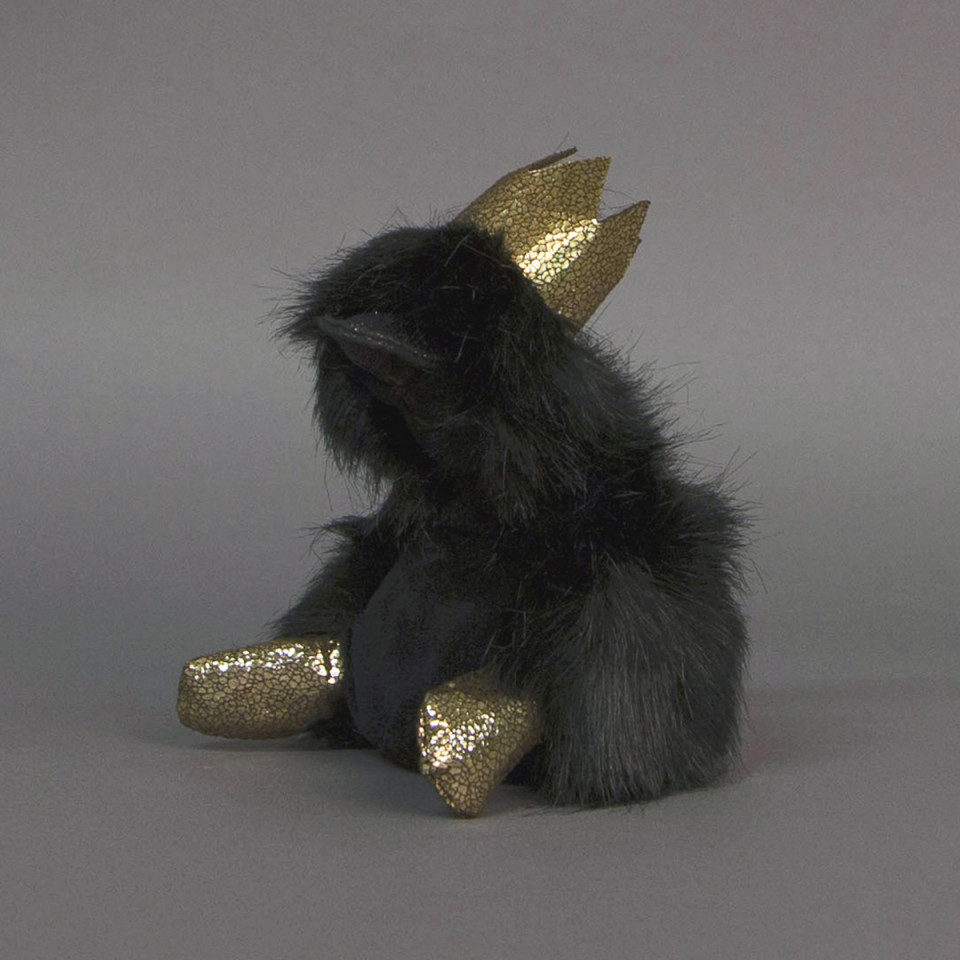Ente Charly Prince mit Glitzer - 18 cm