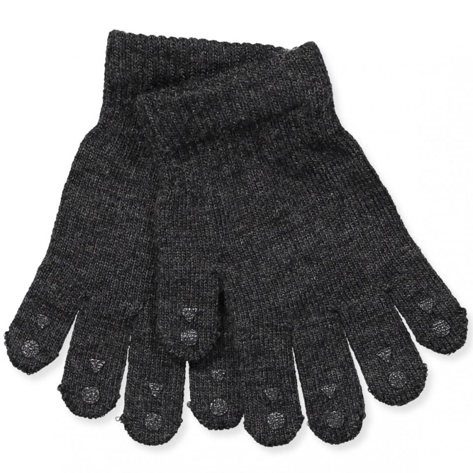 Handschuhe aus Wolle in Dunkelgrau