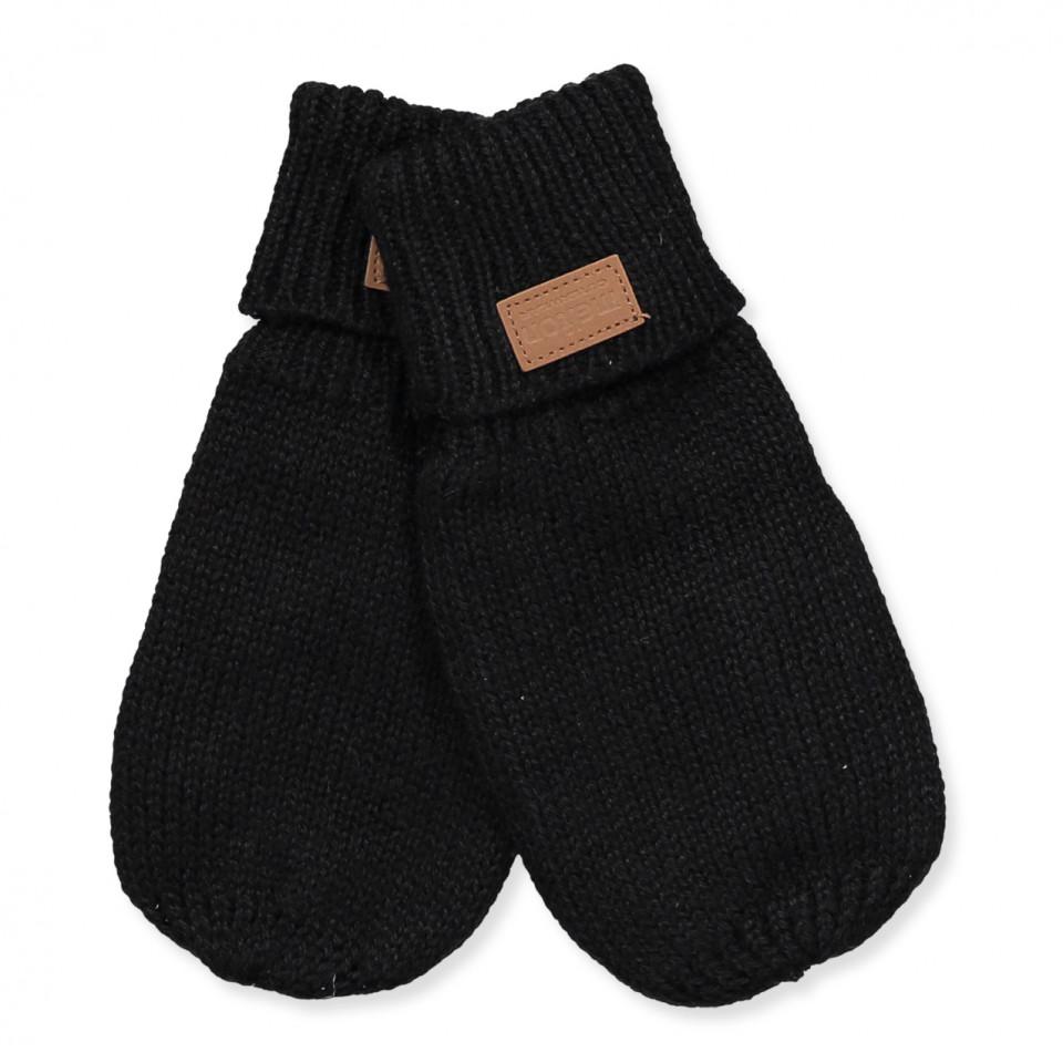 Handschuhe mit Wolle in Schwarz
