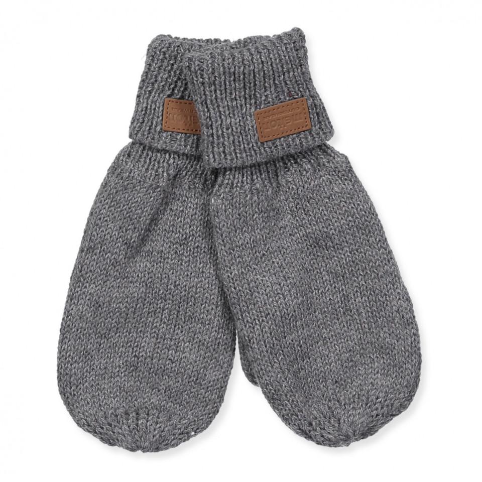 Handschuhe mit Wolle in Grau