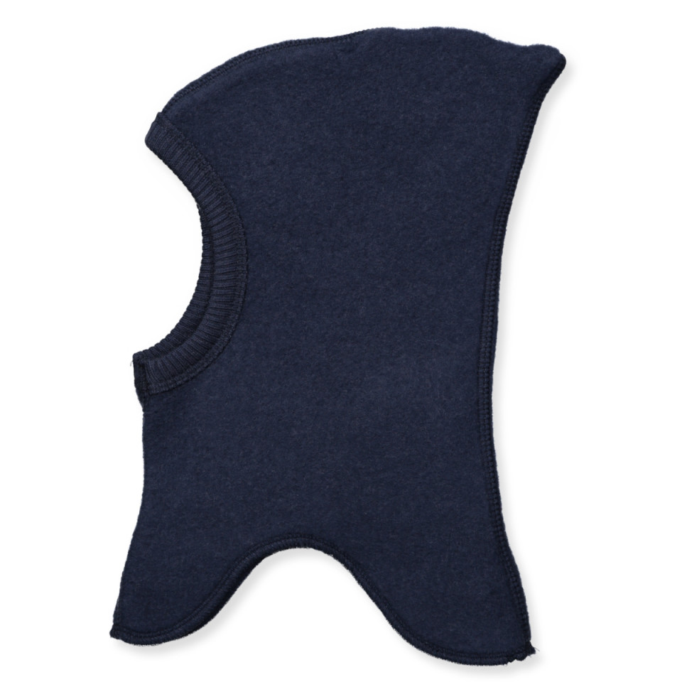 Fleece-Schlupfmütze aus Wolle in Navy