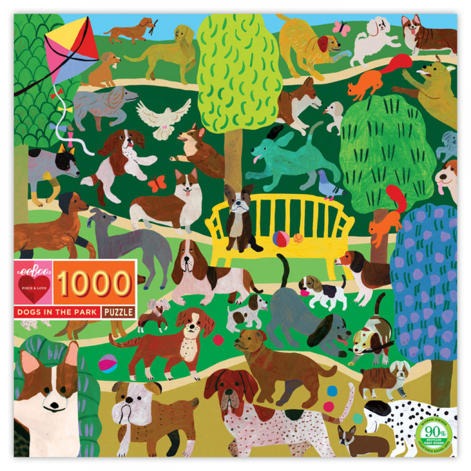 Puzzle 1000 Teile - Hunde im Park