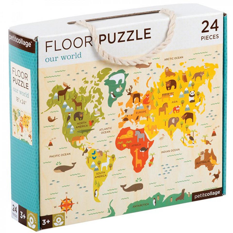 Bodenpuzzle - Die Welt