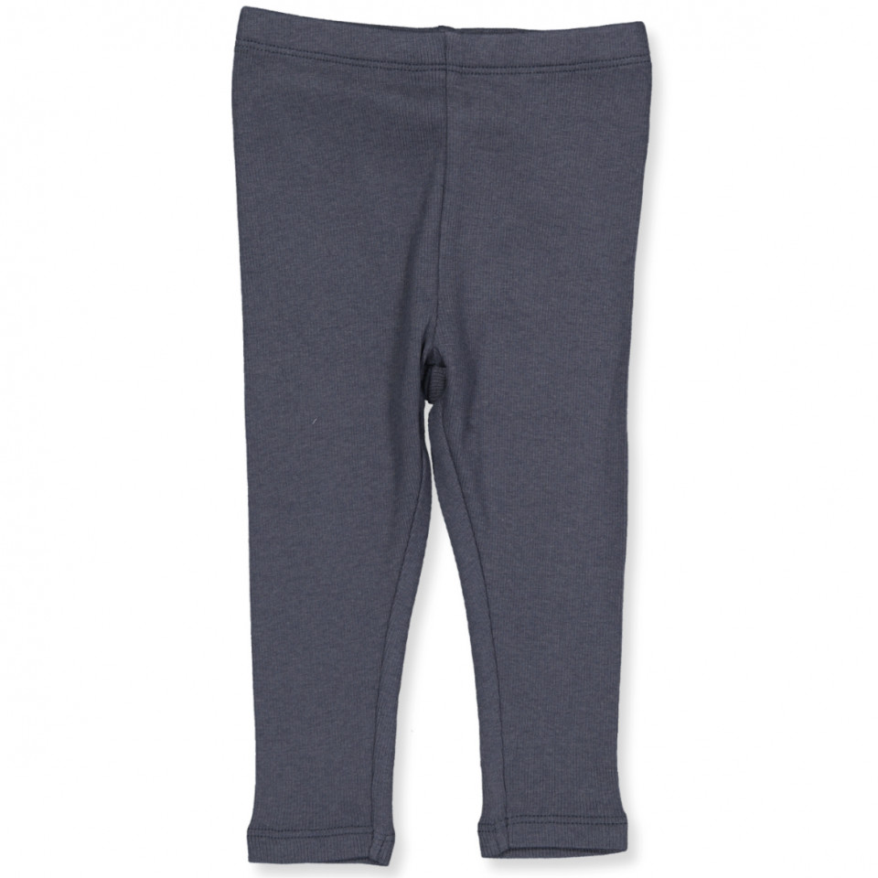 Ripp-Leggings in Graublau