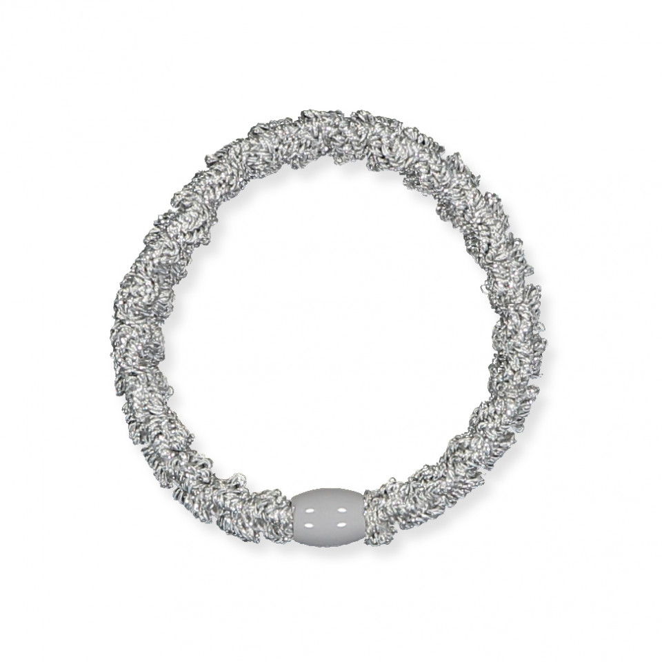 Haargummi Kknekki Lace - Silber Glitzer