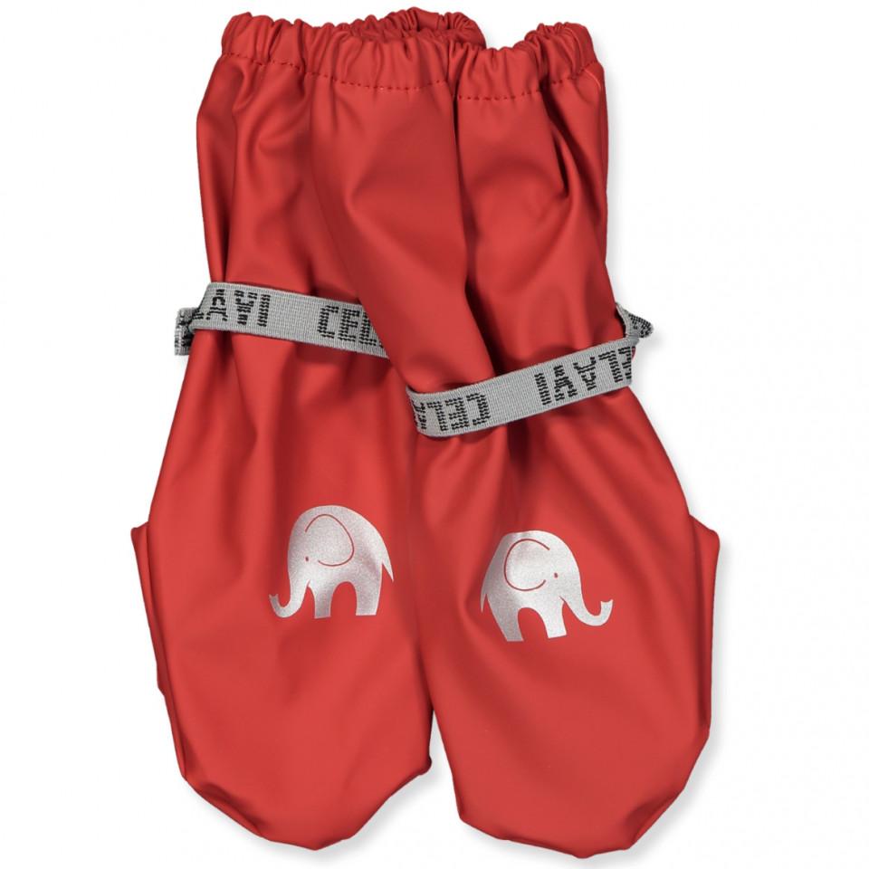 PU-Handschuhe in Rot