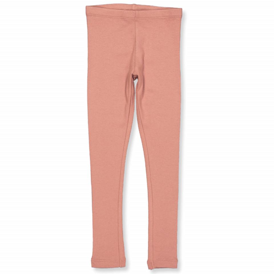Ripp-Leggings in Peach