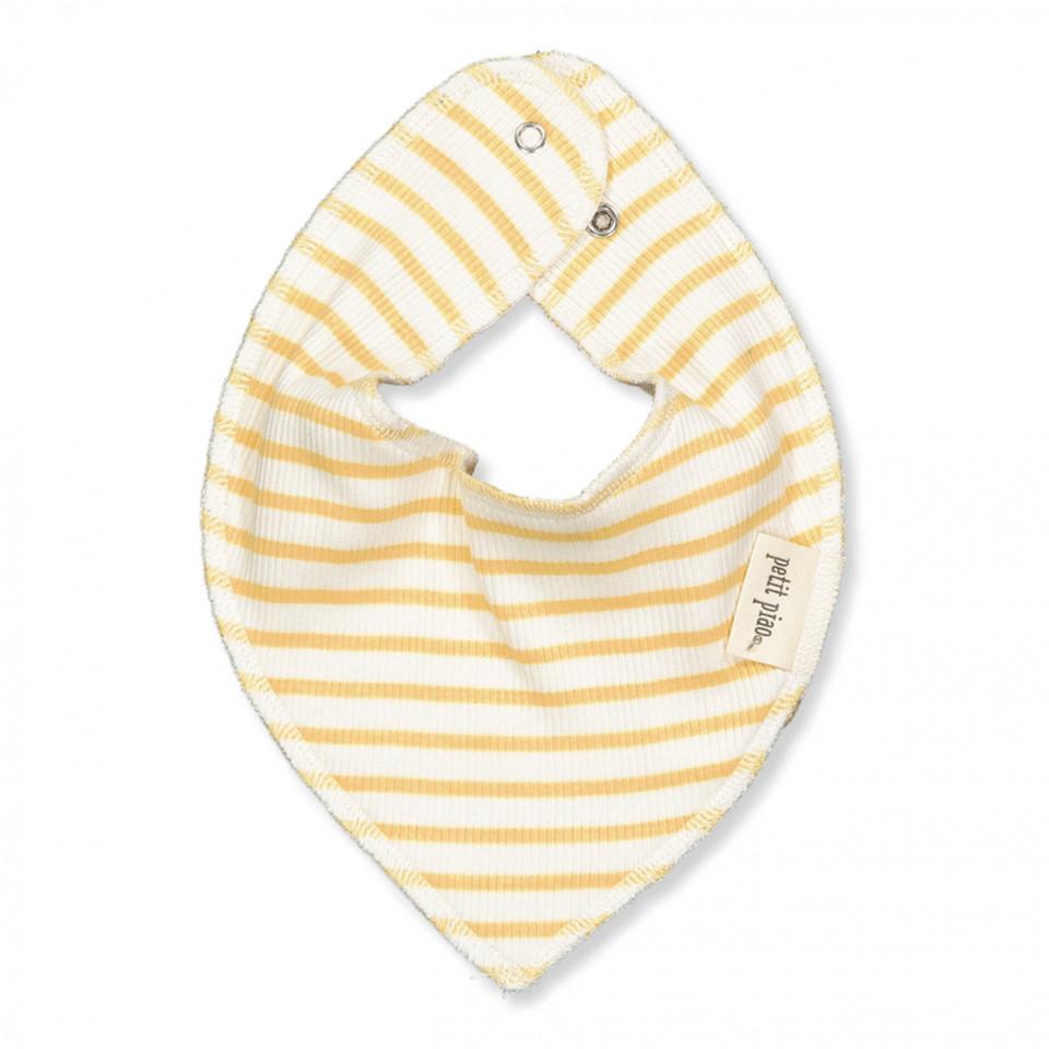 Minilätzchen in Gelb mit Streifen