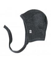 Graue Baby Mütze aus Winterwolle