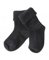 Navy Baby Socken aus Wolle