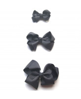 Graues Haarspange classic Bow