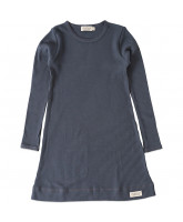 Graublaues Ripp-Nachthemd