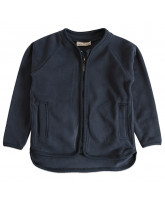 Navy Fleece-Jacke