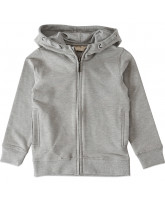 Graumeliertes Zip-Sweat