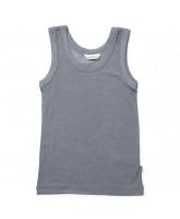 Graues Unterhemd aus Wolle/Seide