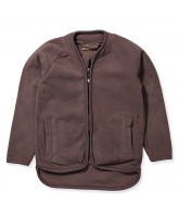 Lila Fleece-Jacke