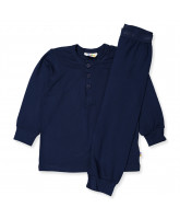 Navy Bambus Schlafanzug