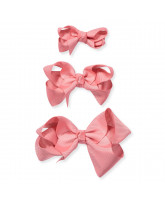 Rosa Haarspange classic Bow