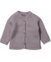Lila Merinowolle fleece Cardigan
