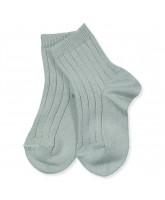 Ripp Socken in Grün