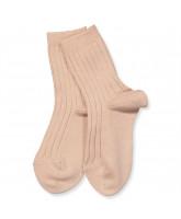 Ripp Socken in Rosa