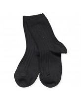 Ripp Socken in Schwarz