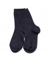 Ripp Socken in Navy