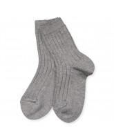 Ripp Socken in Graumeliert