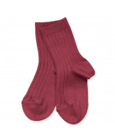 Ripp Socken in Bordeaux