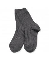 Ripp Socken in Grau