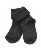 Graue Baby Socken aus Wolle