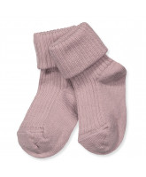 Rosa Baby Socken mit Wolle