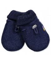 Fleece-Fäustlinge aus Wolle in Blau