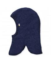 Fleece-Schlupfmütze aus Wolle in Blau