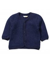 Fleece-Cardigan aus Wolle in Blau