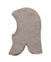 Fleece-Schlupfmütze aus Wolle in Beige
