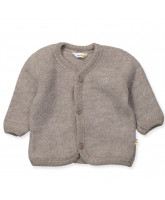 Fleece-Cardigan aus Wolle in beige