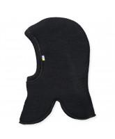 Fleece-Schlupfmütze aus Wolle in Schwarz
