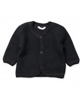 Fleece-Cardigan aus Wolle in Schwarz