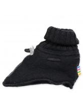 Fleece-Hausschuhe aus Wolle in Schwarz
