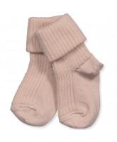 Rosa Baby Socken aus Wolle