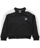Zip-Sweat in Schwarz