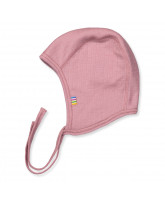 Babymütze aus Wolle in Rosa