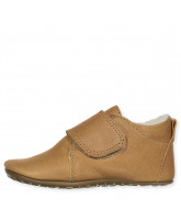 Hausschuhe in Camel mit Wolle