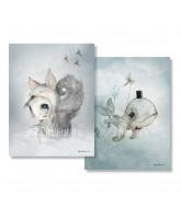 2er-Pack Dear Whalie/Tiny Toffle - 18x24 cm